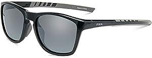 fccea87836 JOJEN Polarized Sports Sunglasses for Men Women Baseball Running Cycling  Fishing Golf Tr90 Ultralight Frame JE001(Black Frame Grey Lens)