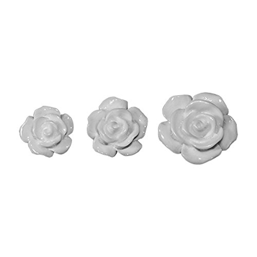 (Embellishments by Tim Holtz Idea-ology, Heirloom Roses, Pack of 25, Assorted Sizes, White, TH93210)