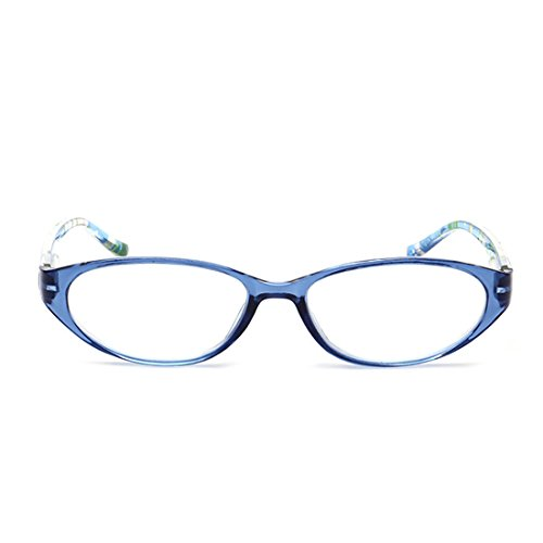 Half Vintage Frame lectura Lentes Azul Clear Glasses de Yefree Lens Classic Inspired p0YAxnx