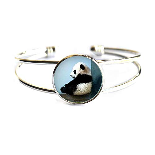 Cute Panda Bracelet Panda Bangle Panda Jewelry Panda Bangle Panda Jewelry Panda Gift Animal Bangle Bear Bangle Panda Bear GiftPanda Bracelet Charm Bear Bracelet,TAP043 ()