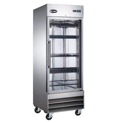 SABA Commercial Reach in Refrigerator, One Glass Door