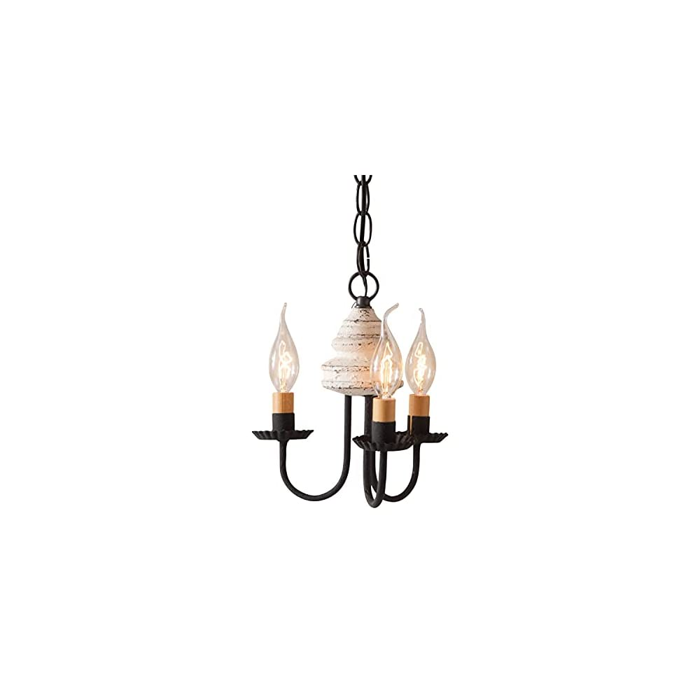 Irvin's Country Tinware Bellview Chandelier in Vintage White