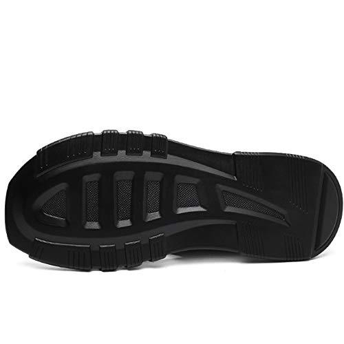 Da Nero Pantofole da Sportivo Per Dimensione Nero In Pantofole Antiscivolo spiaggia Wagsiyi Esterno Colore Pelle Uomo pantofole Scarpe 40 3 2 EU Bqzwp