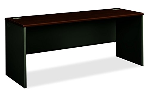 38000 Series Metal - HON 38000 Series Credenza Shell - Desk Shell for Office, 72w x 24d x 29.5h, Mahogany/Charcoal (H38925)