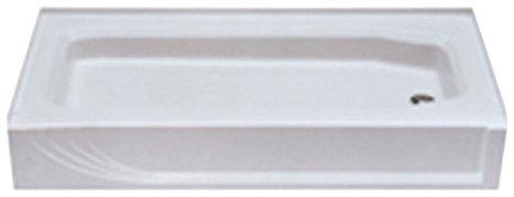 Kinro Composites W-5428 RH-SPK White 28X54 Right Shower Pan