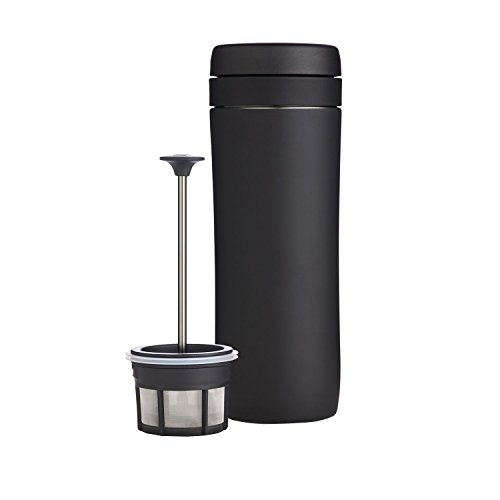Espro Travel Coffee Press, Stainless Screw up one's courage to the sticking point, 12 oz (Matte Black)