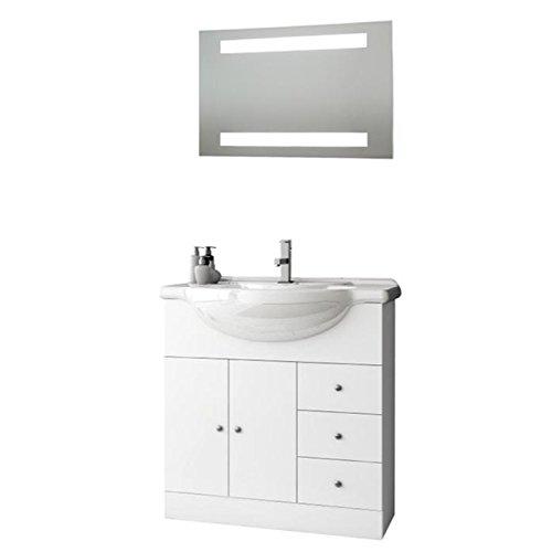 ACF LON09-637509939564 London Collection Vanity Set, Glossy White