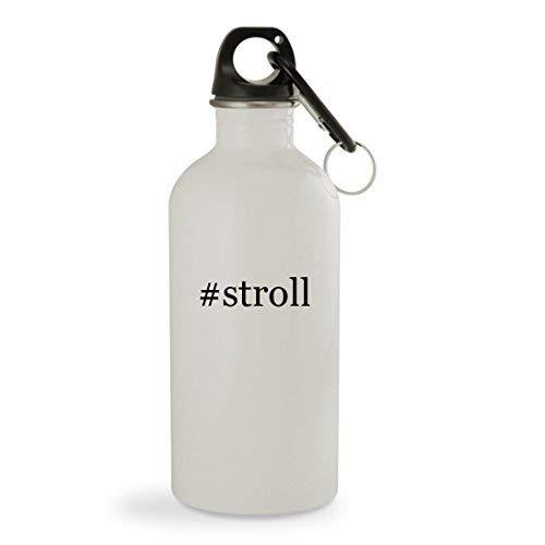 OneMtoss #Stroll - 13.5oz Hashtag White Sturdy Stainless Ste