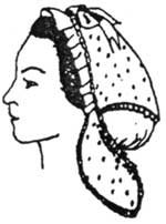 Victorian Hat History | Bonnets, Hats, Caps 1830-1890s 1850s to 1860s Day or Evening Cap Pattern $13.95 AT vintagedancer.com