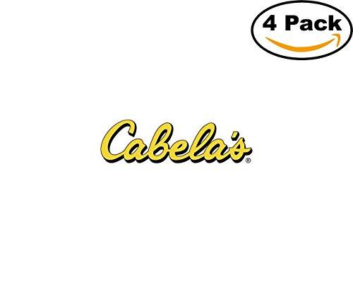 Cabela S 4 Stickers 4X4 Inches Car Bumper Window Sticker Decal