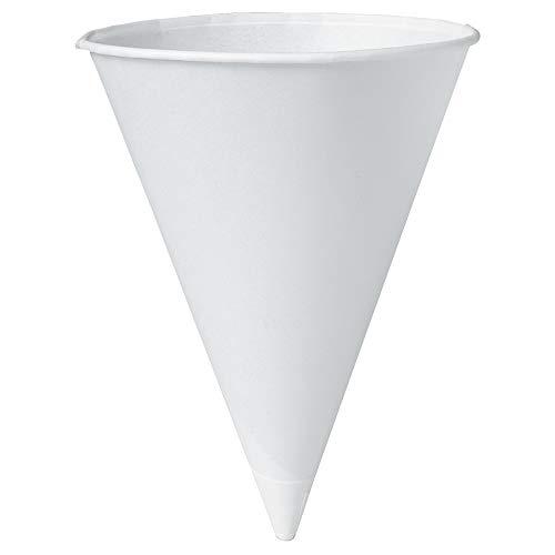 White Paper Cone Cup - Solo 8R-2050 8 oz White Paper Cone Cups (Case of 2500)