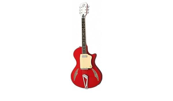 EASTWOOD WANDRE TRI LAM - Guitarra eléctrica, color rojo: Amazon ...
