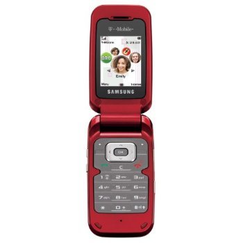 Samsung T229 Unlocked Phone with Tri-Band GSM, Camera and Bluetooth (Red)
