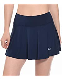 547eb5062d Women's Athletic Skort Pleated Tennis Golf Skirt with Pockets