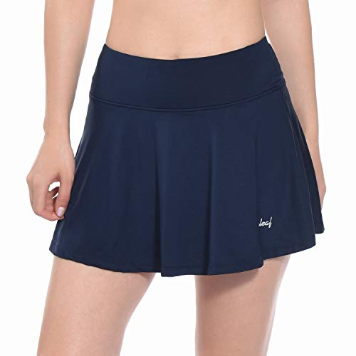 Baleaf Women's Athletic Skort Pleated Tennis Golf Skirt with Pockets Navy Size M