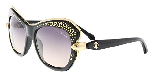 Roberto Cavalli Women's Taygeta 981S 981/S 01B Black/Gold Sunglasses - Sunglasses Cavalli