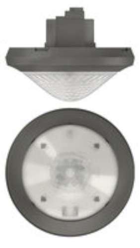 Theben Mova P360 KNX UP GR sensor de movimiento para montaje en techo, y luz