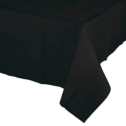(Black Paper Tablecloths, 3 ct)