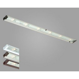 CSL Lighting NMA120L-48 Mach120 6-Light Undercabinet Fixture with SpeedLink, White Finish and Prismatic Glass Diffuser ()