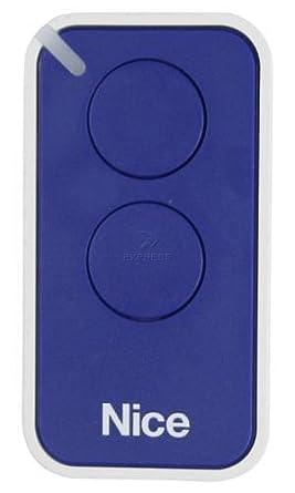 Nice INTI2B Era Inti - Transmisor Miniaturizado para Sistema NiceOpera, 2canales, color Azul