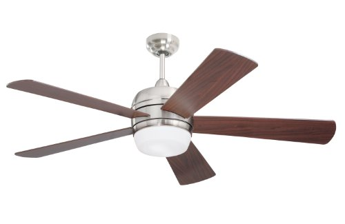 (Emerson Ceiling Fans CF930BS Atomical 52-Inch Modern Indoor Ceiling Fan With Light And Remote, Brushed Steel Finish)