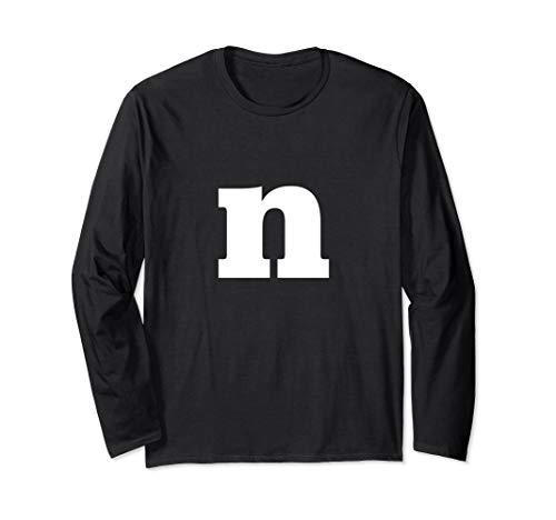 Letter N - Lower Case N - Alphabet Letter N Longsleeve