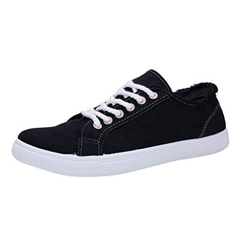Men Leisure Sneakers - Teenager Shoes Student Canvas Shoes,2019 Style Black ()