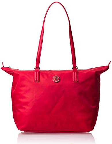 Tommy Hilfiger - Poppy Tote, Bolsos totes Mujer, Rojo (Tommy Red), 14x32x47 cm (B x H T)