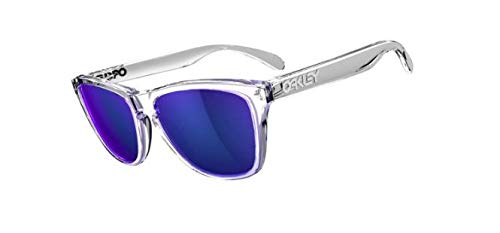 Oakley Frogskins Sunglasses Polished Clear with Violet for sale  Delivered anywhere in Canada