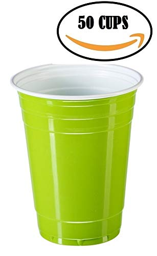 Goodtimes Big Party Pack 50 Count Plastic Cups, 16-Ounce (Green) ()