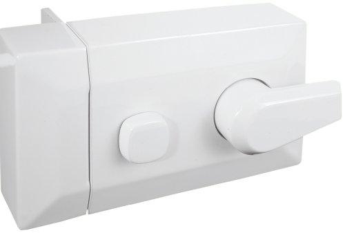 Defender seguridad U 9969pestillo y cilindro de bloqueo, pintado de blanco, contemporáneo