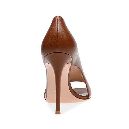Ein 12 Büro Plattform Frauen Stilett YY Runder Einfach Absatzhöhe LYY Zehe Sandalen Nebel Cm Fuß Wasserdichte Kopf Sandalen Öffnen TwzpPxq6