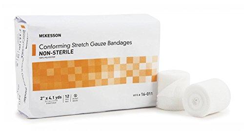 Gauze Bandage Sterile Stretch Non (McKesson 16-011 Conforming Stretch Gauze Bandage, Non-sterile, Self-Adhesive, 2