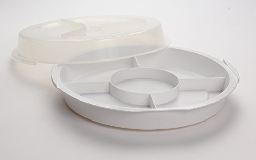 Portable 5 Section Serving Tray w/ Lid ()