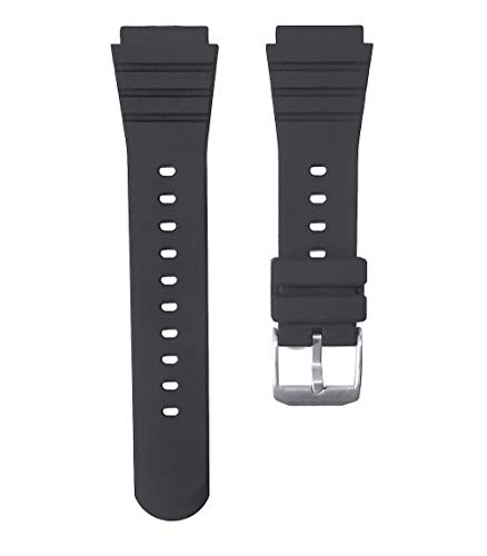22mm Timewheel Black Rubber Watch Band for Luminox Navy Seal Series 1 & Series 2 3000 3050 3080 3900 and More