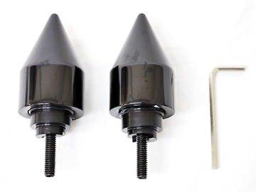 Black Spike Motorcycle Parts 2PCS CNC Aluminum Handlebar Grips Bar Ends Plug Slider Fit For Honda VFR800 1998 1999 2000 2001 2002 2003 2004 2005 2006 2007 2008 2009 2010 2011 2012 2013