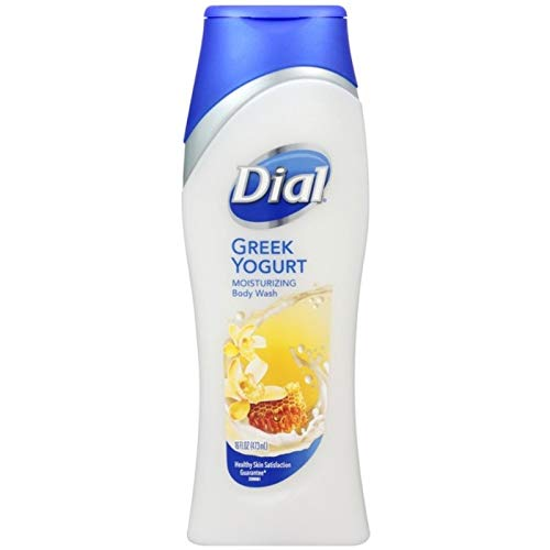 Dial Moisturizing Body Wash, Greek Yogurt 16 oz (Pack of 8)