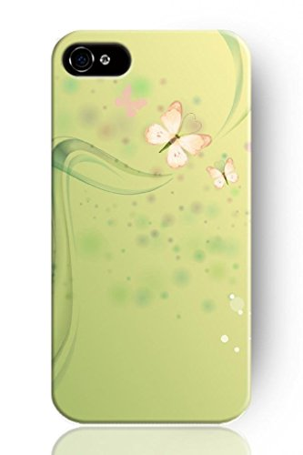 Chuntihavi NEW Beautiful Vintage Design Personalized Hard Plastic Snap on Slim Fit Girly Pink Butterfly Iphone 4 4S Case for Girls