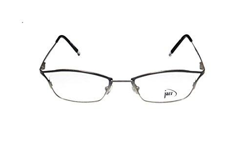 Jazz 181 MensWomens Rx Ready Unique Design Designer Full-rim Spring Hinges EyeglassesEyeglass Frame (49-19-140 Black  Silver)
