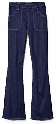 Gap Flare Jeans - GAP Womens Dark Blue Denim Side Zip Resolution Skinny Flare Jeans 2