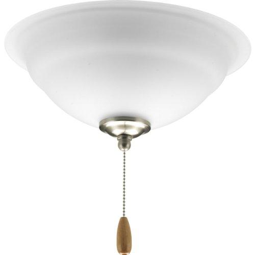 5.75' Glass (Progress Lighting P2645-09 2-Light Fan Light Kit, Brushed Nickel)