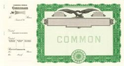 Goes Panel, No Text, Common Stock Certificates, Green, 100 per package