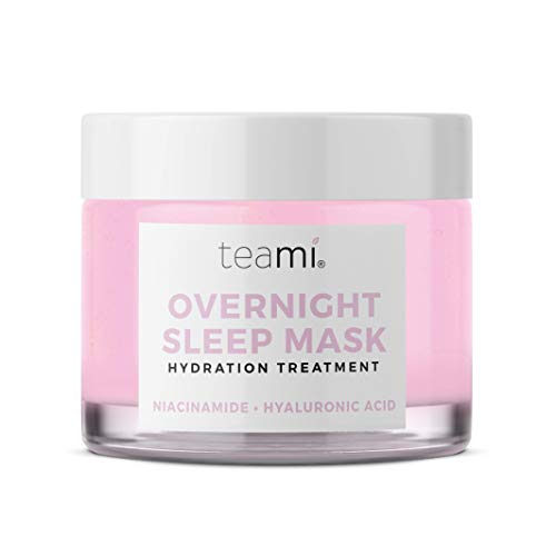 Teami Overnight Face Mask – Vegan and Organic Overnight Mask – Sleeping Facial Mask – Face Moisturizer and Hydrating Mask with Niacinamide and Vitamin C – Night Glow Face Mask Skincare