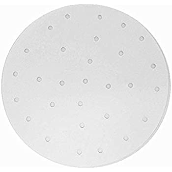 Air Fryer Perforated Parchment Paper, Set of 100, 8 inch Air Fryer Liner/Bamboo Steamer Paper/Perforated Parchment Paper for Air Fryer, Steaming Basket and More (6/7/9/10 Inch Available)