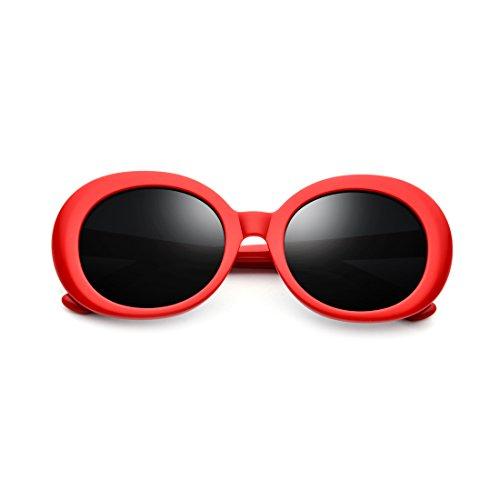 Soleil Lens Soleil Lunettes Frame Harajuku Lunettes Monture Red de Femme Lunettes De Lens Marée Couleur Black Frame Ovale LBY Black Soleil White Épaisse De EgfOqxfdw