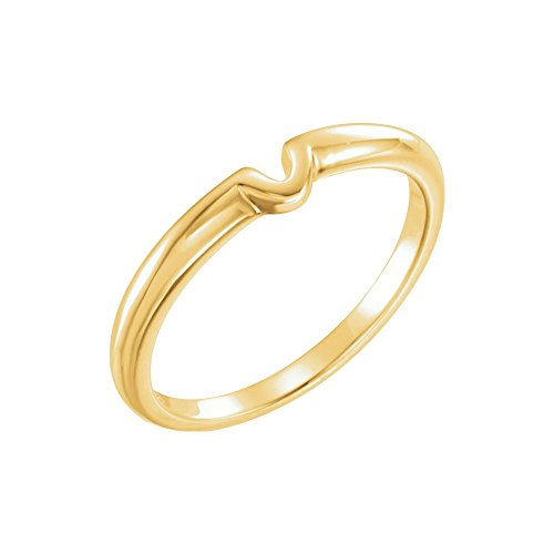Bonyak Jewelry 14k Yellow Gold .25 CT Band for Solitaire Mounting - Size 6 14k Yellow Gold Solitaire Mounting