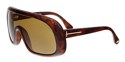 Tom Ford Sven Sunglasses FT0471 56E, Havana Frame, Light Brown Lens, One - Sunglasses Ford Tom New