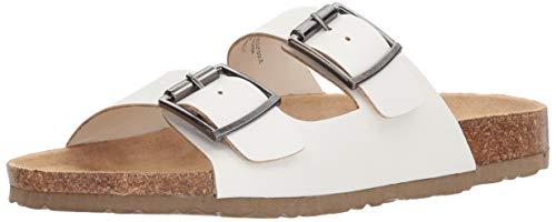 - UNIONBAY Women's Melissa Flat Sandal, White, M080 M US