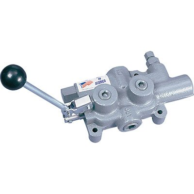 """Prince LS-3000-2 Directional Control Valve, Logsplitter, 4 Ways, 3 Positions, Spring Center to Neutral, Cast Iron, 2750 psi, Lever Handle, 25 gpm, In/Out: 3/4"""" NPTF, Work: 3/4"""" NPTF by Prince Manufacturing"""