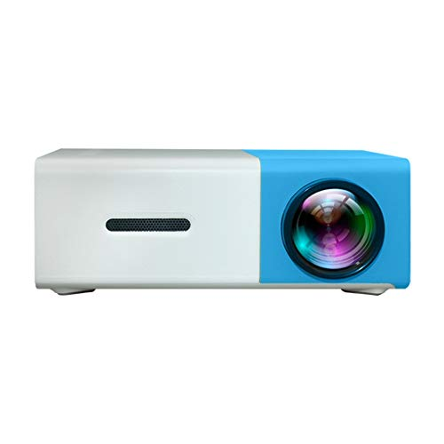 Mini LCD Video Projector 1080P Home Theater Cinema Projector,USB HDMI AV SD Portable Remote Mini HD LED Theater Projector (Sky Blue)